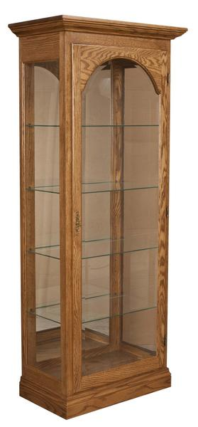 Amish High Curio Cabinets with Four Glass Shelves