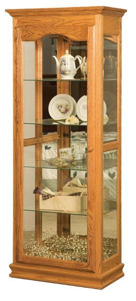 Amish Heritage One Door Curio Cabinet