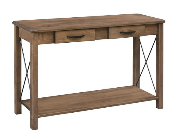 Amish Crossway 2-Drawer Sofa Table