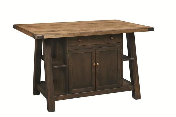 Amish Farmstead Kitchen Island With Optional Top