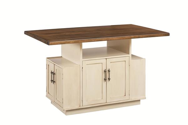 Amish Metropolitan 8-Door Kitchen Island With Optional Top