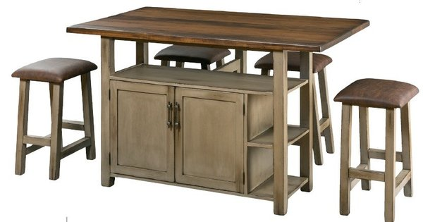 Amish Transitional Kitchen Island With Optional Top