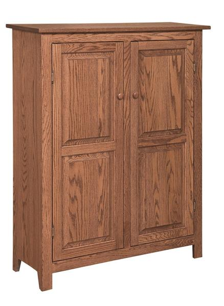 Amish Shaker 2-Door Jelly Cabinet