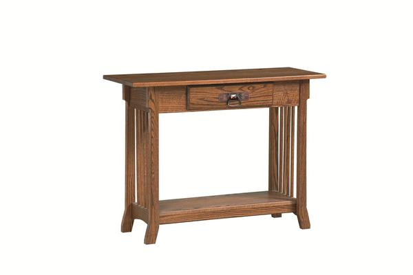 Amish Royal Console Table with Drawer