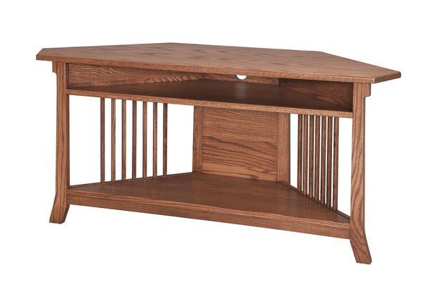 Amish Royal Corner TV Entertainment Table