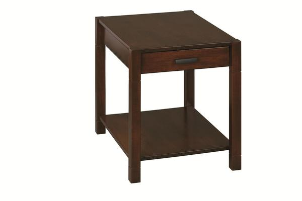 Amish Gap Large End Table with Drawer