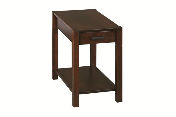 Amish Gap Chairside Table with Drawer