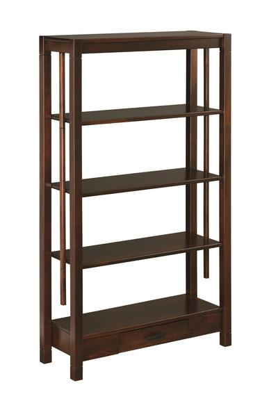 Amish Gap Open Bookcase with Drawer