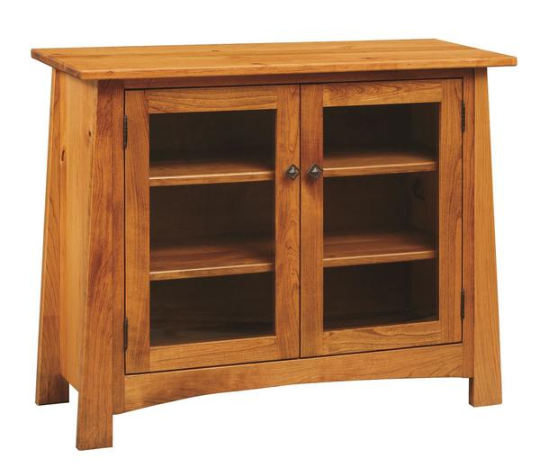 Amish Craftsmen Console with Glass Doors