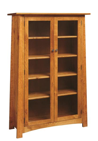 Amish Craftsmen Bookcase with Glass Doors