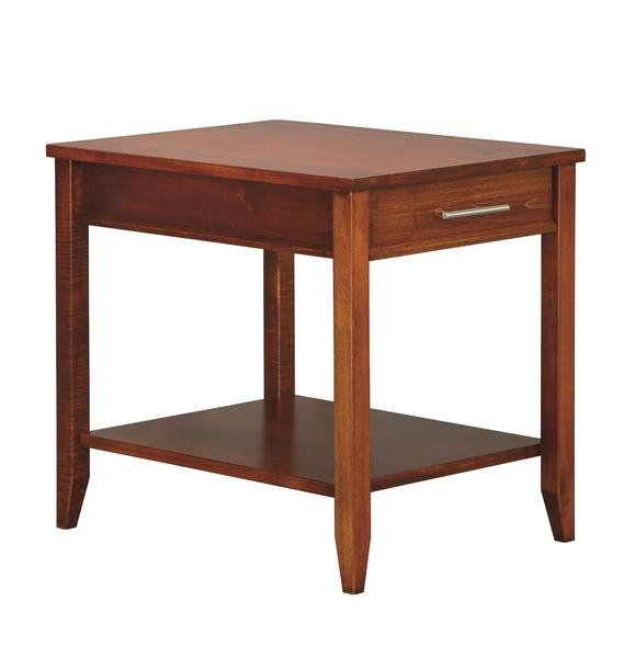 Amish Contemporary End Table with Drawer