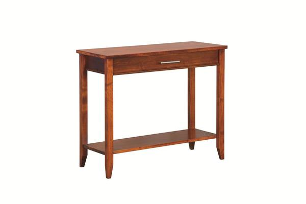 Amish Contemporary Console Table with Drawer