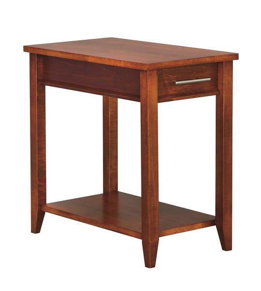 Amish Contemporary Chairside Table with Drawer