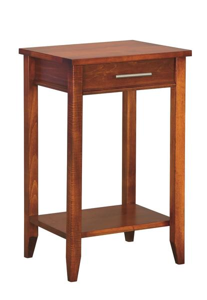 Amish Contemporary Telephone Stand with Drawer