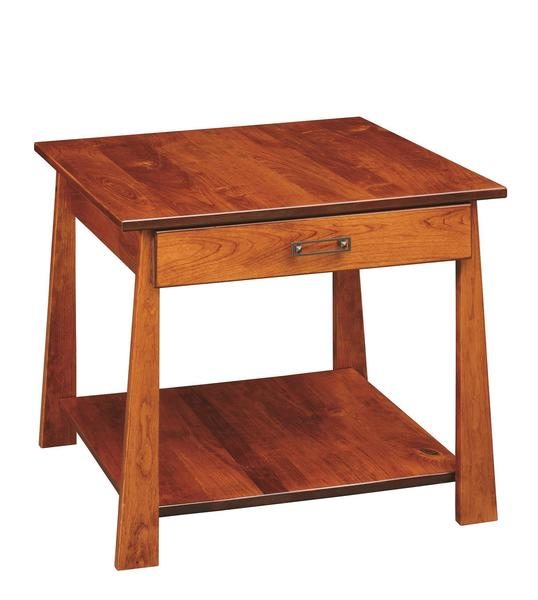 Amish Craftsmen Large End table with Drawer