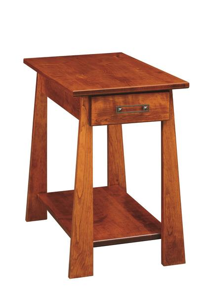 Amish Craftsmen Chairside table with Drawer