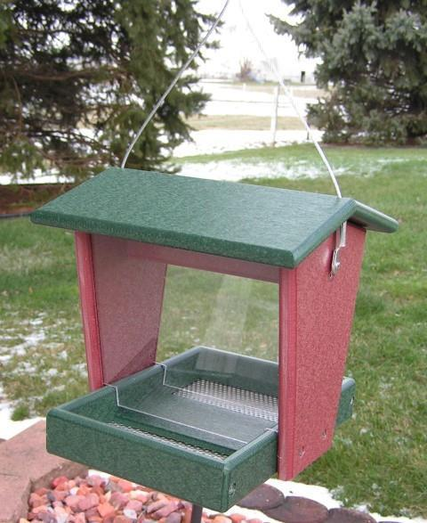 Amish Poly Small Bird Feeder