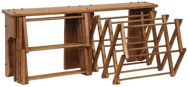 Amish Oak Wood Double Wall Drying Rack