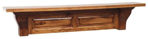 Amish Classic Raised Panel Fireplace Mantle - Choose Sizes and Woods