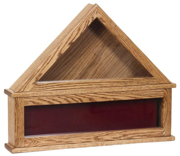Amish Solid Wood Flag Display Case