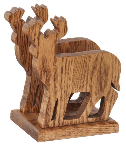 Amish Oak Wood Deer Shape Napkin or Letter Holder