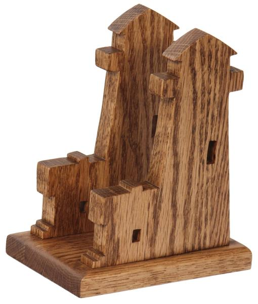 Amish Lighthouse Shaped Wooden Napkin Holder