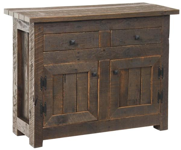 Amish Pallet Wood Foyer Cabinet