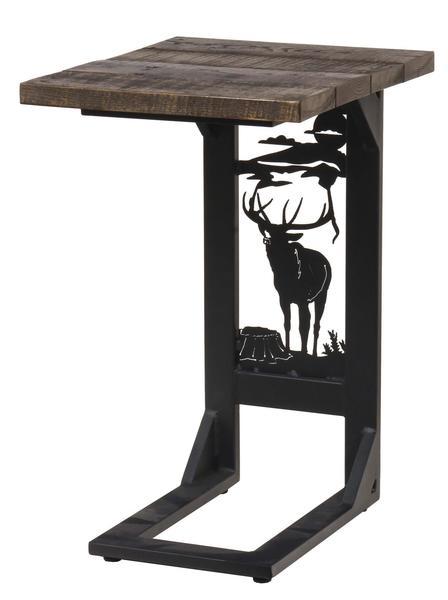 Amish Regular Rustic Sofa Server with Elk