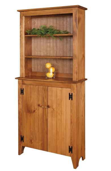 Amish Pine Jelly Cupboard with Optional Hutch