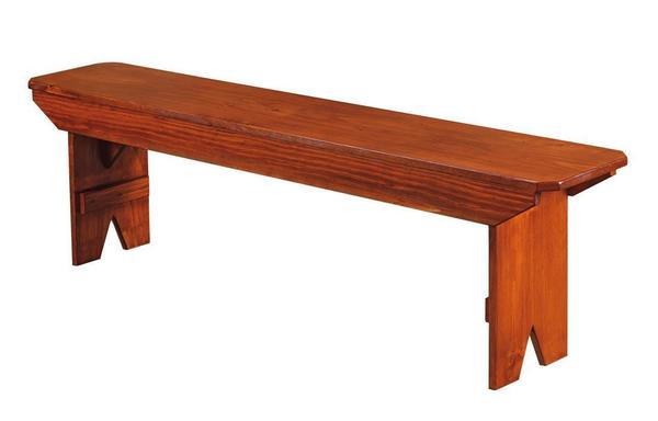 Attractive Amish Pine Dining Bench