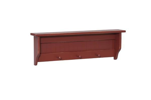 Amish Pine Wood Peg Shelf