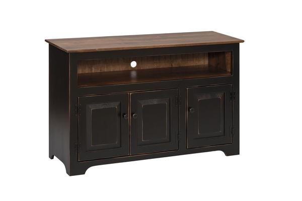 Amish Pine 3-Door TV Console