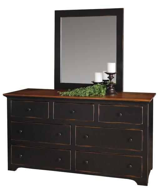 "Amish Pine 60"" Dresser with Optional Mirror"