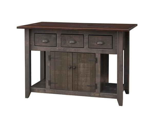 Amish Pine Kitchen Island