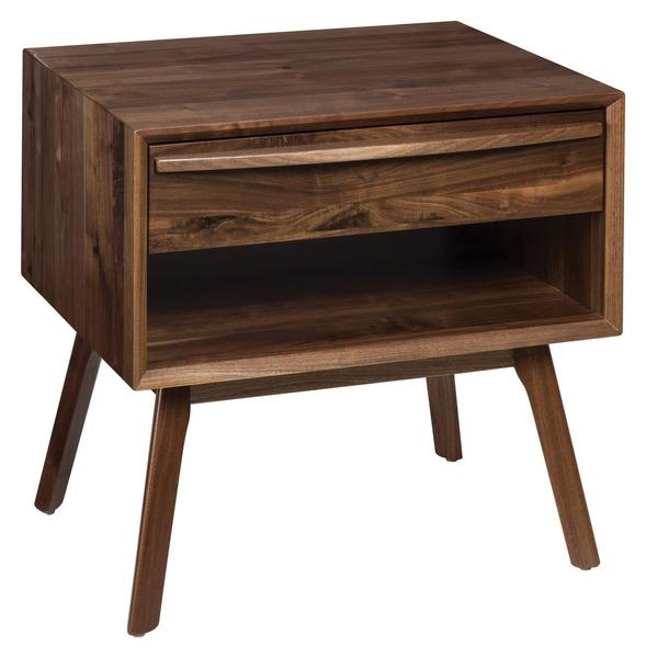 Amish Cambridge Mid Century Modern End Table