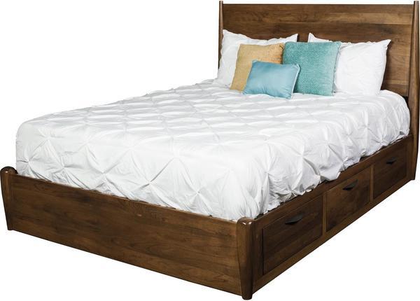 Amish Kenton Panel Storage Bed