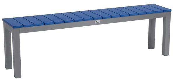 """Berlin Gardens PAX 62"""" Poly and Metal Backless Dining Bench"""