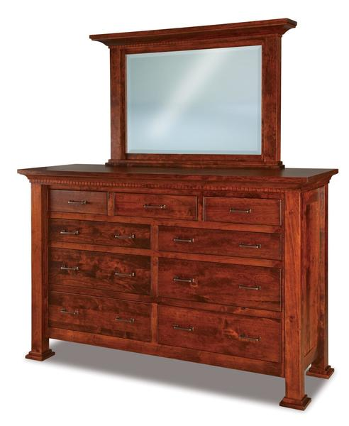 "Amish Empire 71"" Dresser with Optional Mirror"