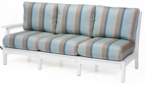 Berlin Gardens Classic Terrace Poly Outdoor Right Arm Sofa