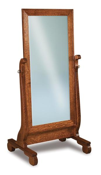 Amish Old Classic Sleigh Beveled Cheval Mirror