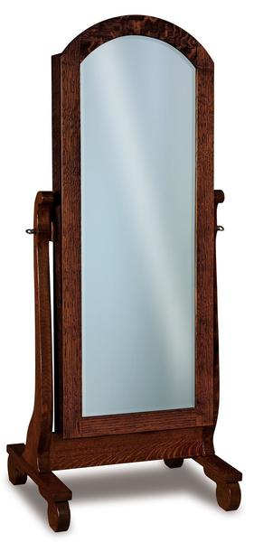 Amish Old Classic Sleigh Beveled Jewelry Mirror