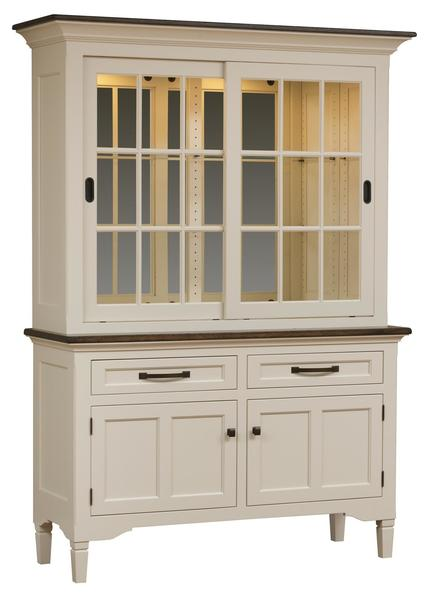 Amish Marshfield Sliding Door Hutch