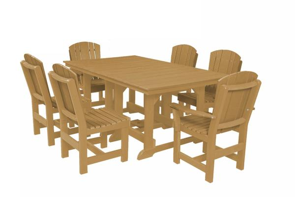 """EcoPoly 44"""" x 72"""" Dining Table with 6 Dining Chairs"""