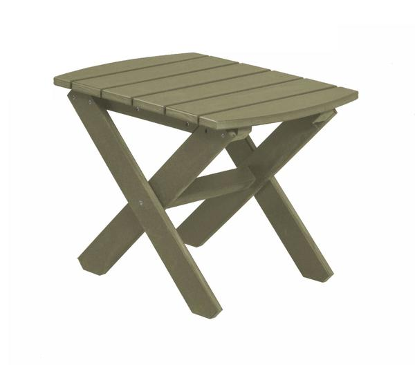 Eco Poly Lumber Outdoor Rectangular Side Table