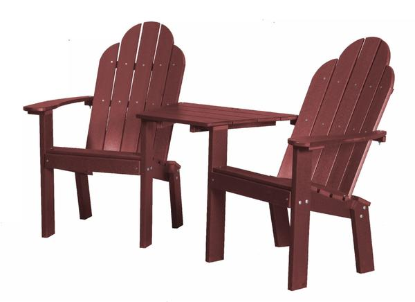 Recycled Plastic Poly Adirondack Tete-a-Tete