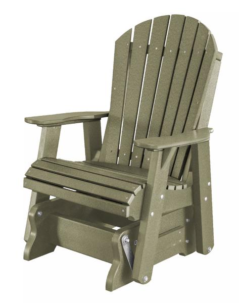 Amish Recycled Plastic Eco Poly Single Glider Chair