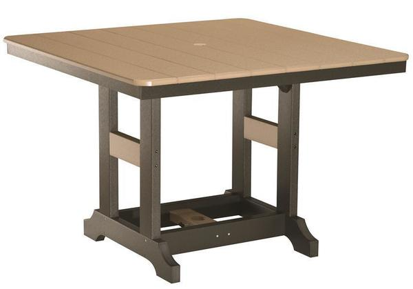 """Berlin Gardens 44"""" Square Bar Height Poly Table"""