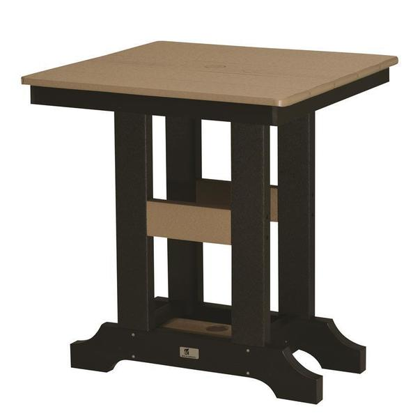 """Berlin Gardens Classic 28"""" Square Poly Bar Height Table"""