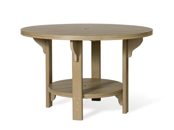 "Amish Outdoor 48"" Round Poly Dining Table"