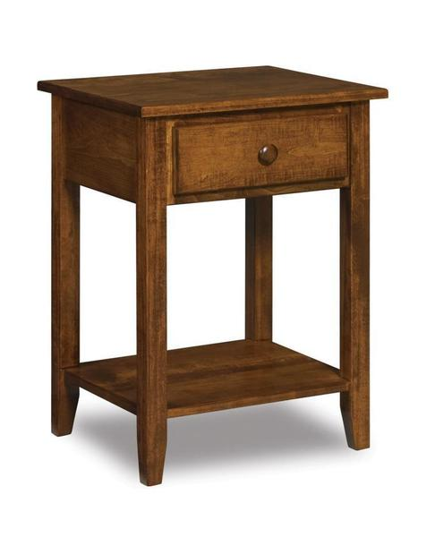 Amish Shaker One Drawer Open Nightstand